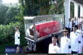 Cận cảnh lễ rước linh cữu ông Lý Quang Diệu tới quốc hội Singapore