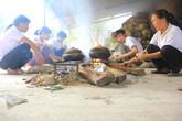 1 triệu đồng/ngày công kho cá thuê ở làng Vũ Đại
