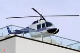 Cận cảnh trực thăng như thật đậu trên nóc biệt thự
