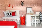Phòng ngủ cá tính với họa tiết ngựa vằn
