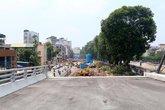 Tạm dừng thi công cầu vượt Cầu Giấy để điều tra tai nạn