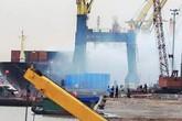 Hải Phòng: Container chở phốt pho bốc cháy dữ dội