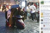 Cảnh con trai lớn ngồi trên xe để mẹ dắt bộ trong mưa ngập ở SG gây tranh cãi