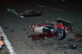 Đà Nẵng: 2 xe máy nát bét sau cú tông mạnh