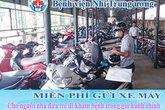 BV Nhi Trung ương không thu tiền gửi xe máy