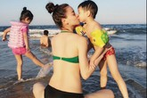 Hồ Ngọc Hà khoe thân hình nõn nà trên biển