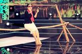 NSƯT Thanh Thủy bị rơi xuống sông khi chụp hình tự sướng