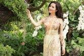 Vẻ đẹp không tì vết của Hoa hậu Giáng My trong tà áo dài trên đất Thái