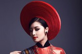 Hoa hậu Triệu Thị Hà kiêu sa trong tà áo dài