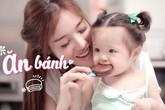 Elly Trần tung clip con gái ăn bánh siêu đáng yêu