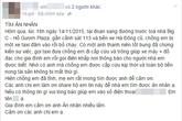 Người vợ lên facebook tìm chàng trai đã giúp đỡ chồng mình khi bị taxi tông
