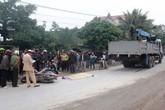 Ngã xe máy, một phụ nữ bị xe tải cán chết thảm thương