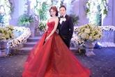 Đinh Ngọc Diệp mặc áo cưới nặng 20 kg trong hôn lễ