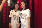 Vợ và con gái Trần Lập đi thu âm ca khúc của chồng