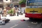 Cô gái bị xe buýt đâm tử vong trên đường Hà Nội