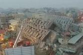 Động đất 6,4 độ richter, nhà 17 tầng đổ sập