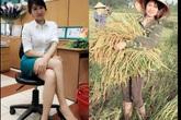 """""""Truy tìm"""" cô gái đang """"gây bão"""": Ngày làm ngân hàng, cuối tuần về gặt lúa mà vẫn da trắng dáng xinh"""