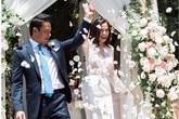 Siêu mẫu Ngọc Thúy hạnh phúc tràn ngập trong ngày tái hôn