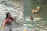 Dũng cảm nhảy xuống sông để 'cứu' iPhone