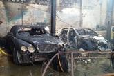 Cháy gara ở Sài Gòn, 10 xe sang bị thiêu rụi