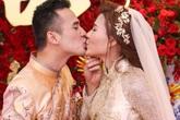 Lương Thế Thành - Thúy Diễm hôn nhau ngọt ngào trong lễ cưới