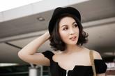 MC Thanh Mai diện áo trễ vai khoe dáng đẹp ở sân bay