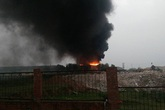 Cháy dữ dội tại nhà máy gạch Viglacera