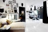 Căn hộ 39m² cực chất với cặp màu đen - trắng kinh điển