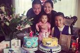 Vợ chồng Kim Hiền tổ chức sinh nhật chung cho hai con