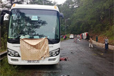 Hai xe khách đâm nhau ở đèo Prenn, ít nhất 7 người chết