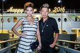 Siêu mẫu Hoàng Yến và DJ Kaiser tình tứ trên du thuyền