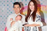Vợ chồng Phi Thanh Vân bế con trai dự sinh nhật con gái Trịnh Kim Chi