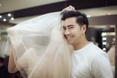 Ông xã diễn viên đưa Ngọc Lan đi thử váy cưới