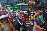 Sài Gòn lại kẹt xe nghiêm trọng sau mưa lớn
