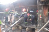 Cháy chợ trong đêm, hơn 20 lô hàng bị thiêu rụi