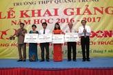 Hỗ trợ học sinh 4 tỉnh miền Trung đến trường sau sự cố Formosa