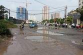 Quận Hoàng Mai (Hà Nội): Đường mới lưu thông đã xuống cấp