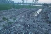Hà Nội: Ruộng bị bỏ hoang do phế thải xây dựng vùi lấp