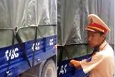 """Bị CSGT bắt lỗi trên cao tốc Pháp Vân - Cầu Giẽ vì dán """"biển số cong"""" bên thành xe"""