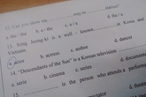 'Hậu duệ mặt trời' vào đề kiểm tra tiếng Anh