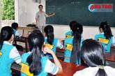 Lớp học trường huyện có 1 thủ khoa, 13 em trên 24 điểm