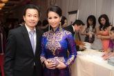 Hoa hậu quý bà Sương Đặng diện áo dài cung đình dự event trên đất Mỹ