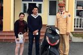 Mất xe máy SH ở Hà Nội, bất ngờ nhận lại ở Quảng Ninh