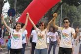 Giới trẻ Hà thành hào hứng với đường chạy đầy màu sắc