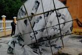 Quả cầu lạ có chữ Trung Quốc rơi ở Quảng Nam không nguy hiểm