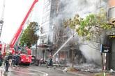 Hà Nội: Cháy dữ dội ở quán karaoke trên đường Trần Thái Tông