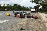 Hai công nhân bị ô tô húc văng hàng chục mét trên đại lộ