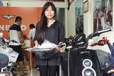 Nữ sinh xinh đẹp Đà Thành là chủ nhân xe điện Anbico Dina đầu tiên