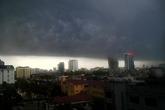 Cảnh báo mưa giông cho khu vực Hà Nội trong vài phút tới