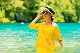 Ngất ngây hình ảnh Hoa hậu Đền Hùng thả dáng ở đảo xanh